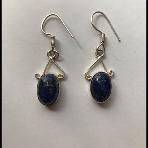 NEW Lapis Earrings, 925 Silver